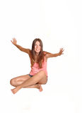 Girl having fun. Stock Images