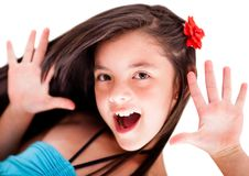 Girl having fun Stock Photos