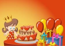 Girl having fun at birthday party Royalty Free Stock Image