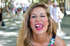 Girl having fun royalty free stock photos