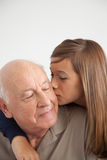 Girl having fun with her grandfather Stock Photo