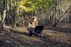 Girl having fun in nature Royalty Free Stock Image