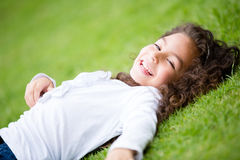 Girl having fun at the park Stock Photography