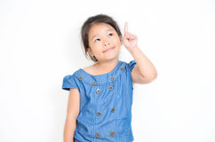 Girl having a good idea Royalty Free Stock Photo