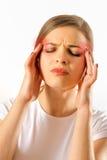 Girl having a headache Stock Photo