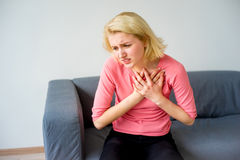 Girl having a heartache. A portrait of a girl suffering from a heartache Stock Images