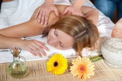 Girl having a massage Royalty Free Stock Photos