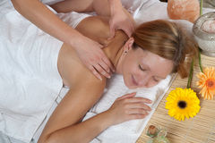 Girl having a massage Stock Image