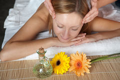 Girl having a massage Royalty Free Stock Photography