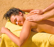 Girl having a massage Stock Photo