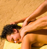 Girl having a massage Stock Images