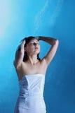 Girl having shower Royalty Free Stock Image
