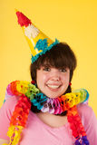 Girl is having a stunning birthday. Young girl is having an amazing birthday party stock image