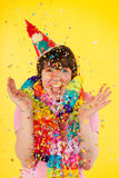 Girl is having a stunning birthday. Young girl is having an amazing birthday party royalty free stock photos