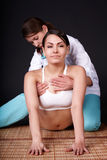 Girl having thai massage. Royalty Free Stock Photography
