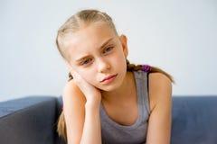Girl having a toothache