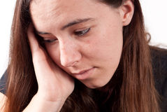 Girl With Head Pains Royalty Free Stock Photography