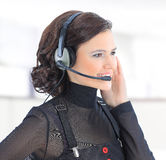 girl with head phones. Stock Images
