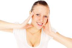 Girl headache Royalty Free Stock Photo