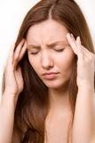 Girl headache Royalty Free Stock Photography