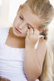 Girl With A Headache Royalty Free Stock Photo