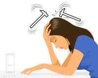 Girl with headache Royalty Free Stock Photo