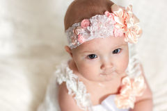 The girl in the headband Stock Photography