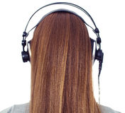 Girl with headphone Royalty Free Stock Photo