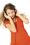 Girl with headphone Stock Photography