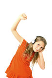 Girl with headphone Stock Photo