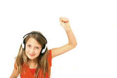 Girl with headphone Royalty Free Stock Image