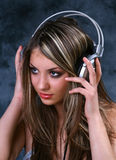 Girl with Headphones 1 Stock Image