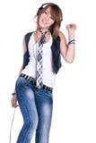 Girl in headphones Stock Photography