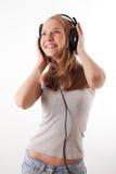 Girl with headphones Royalty Free Stock Photo