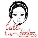 Online call center concept Royalty Free Stock Photos