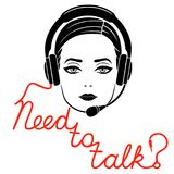 Need to talk online service concept Royalty Free Stock Photography