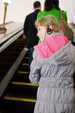 The girl in headphones Royalty Free Stock Photos