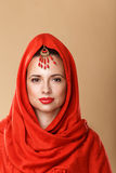 Girl in a headscarf. Stock Images
