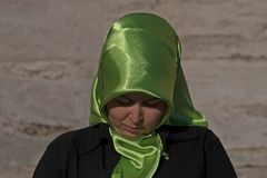 Girl with headscarf in Turkey Royalty Free Stock Image