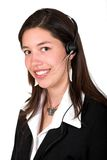 Girl with headset Royalty Free Stock Photography