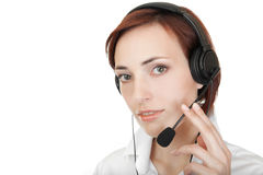 Girl with headset. Stock Photography