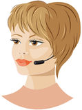 Girl headset support Royalty Free Stock Images