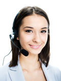 Girl with a headset Stock Photos