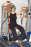 Girl in health club Stock Images