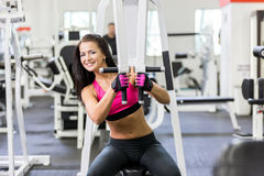 Girl in health club Royalty Free Stock Photography