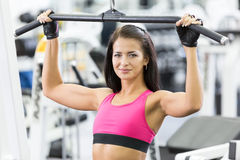 Girl in health club Royalty Free Stock Images