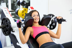 Girl in health club Royalty Free Stock Image
