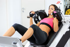 Girl in health club Royalty Free Stock Photos