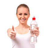 Girl health and fitness Stock Photos