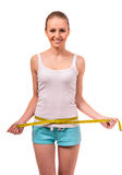 Girl health and fitness Royalty Free Stock Image
